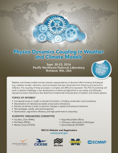 PDC16, the second Physics Dynamics Coupling workshop